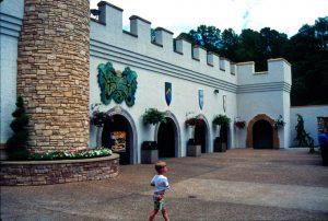 Entrance courtyard, June 1990 (courtesy of Gary Terrell)