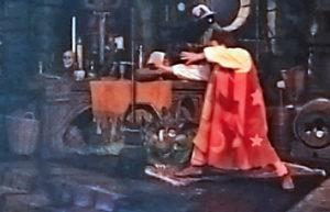 Magic broom (photo courtesy of Northrup actor shown, David John Madore)