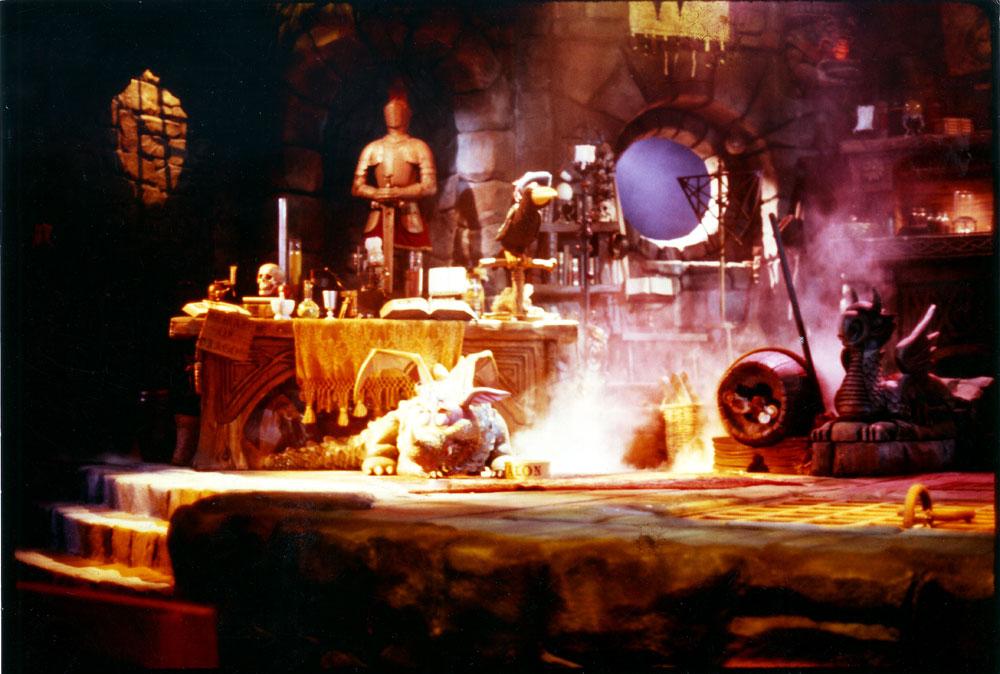 Set photo, 1986 (Courtesy of Rich Hoag)