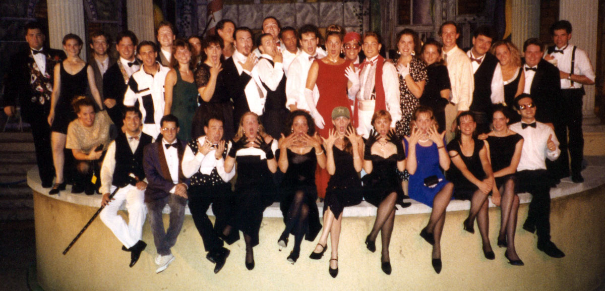 Black and White Night, featuring strolling performers and Northrups, 1995