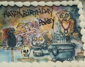 Enchanted Laboratory Birthday Cake, May 1989, courtesy of Tony Pinizzotto