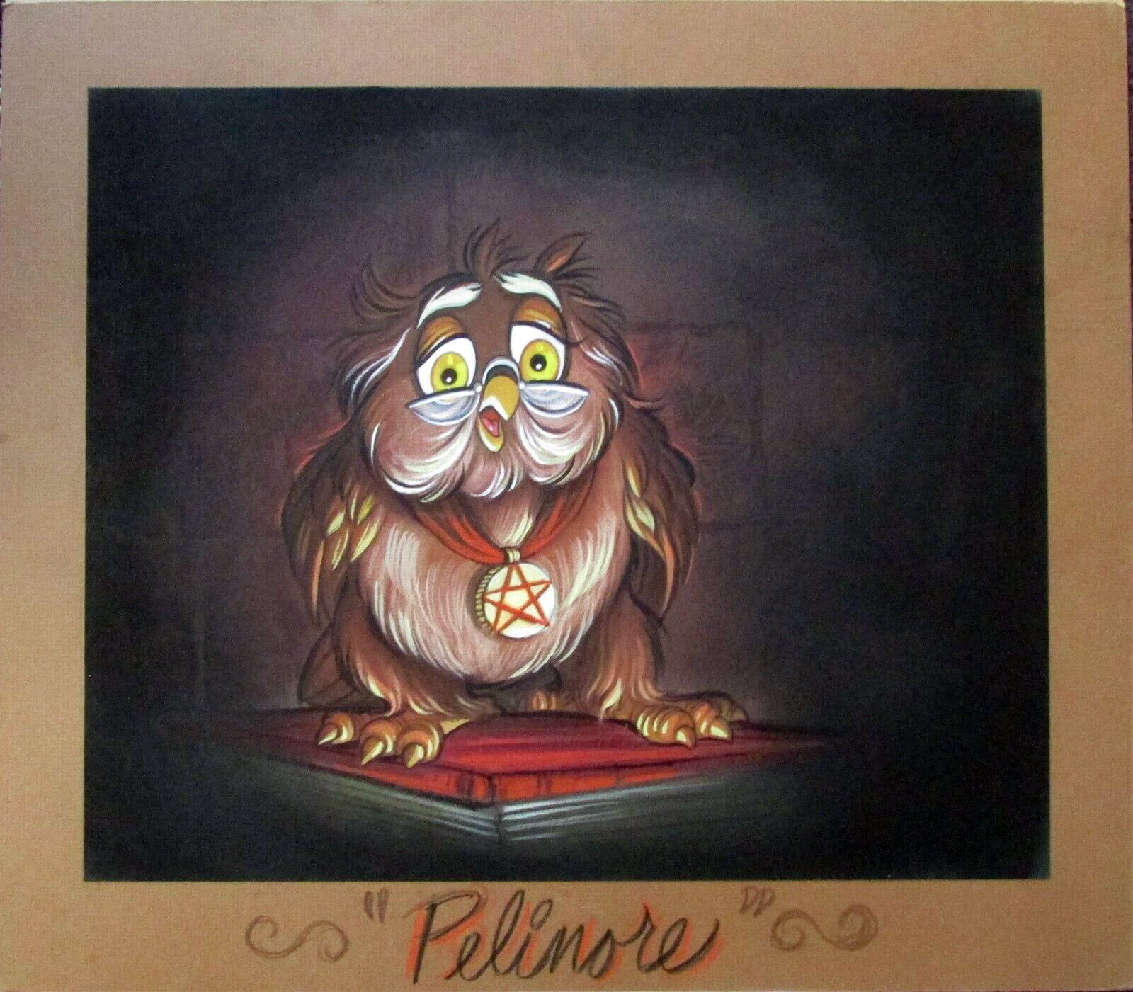 Pellinore character design, painting by Rebecca Mills