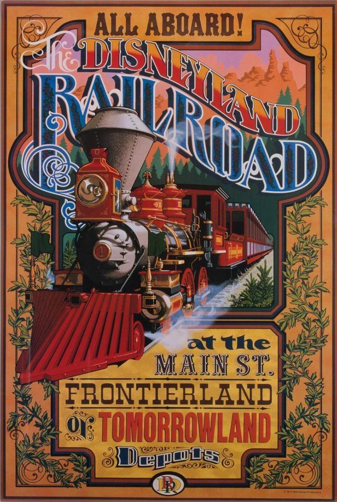 Disneyland Railroad poster by Jim Michaelson