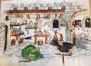 Watercolor concept rendering by Joe Peczi, 1985